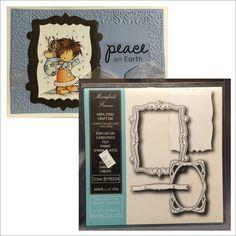 Mansfield Frame metal die set Memory Box cutting dies 98534 Rectangle,oval #MemoryBox