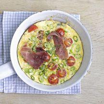 Herzhaftes Tomaten- Schinken- Omelette