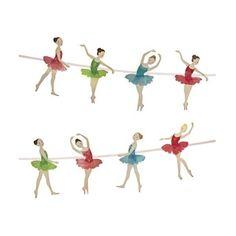 Girlande Ballett, 2,5m, 8 Anhänger