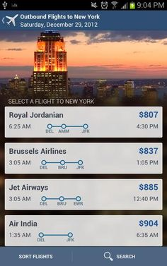 Android App Patterns | Expedia New | Phones