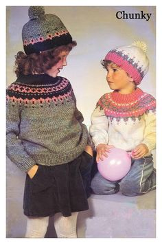 Fair Isle Knitting Vintage knitting pattern by HoneyCombPatterns Sirdar Knitting Patterns, Fair Isle Knitting Patterns, Fair Isle Pattern, Free Knitting, Baby Knitting, Intarsia Patterns, Knitting Tutorials, Knitting Projects, Stitch Patterns