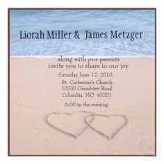 printable beach wedding invitations CRYSTAL4CLEAN Pinterest