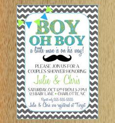 Boys baby shower invitation elephant typography by paperclever boy oh boy baby shower invitation filmwisefo