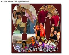 80th Birthday Photo Collage 80th Birthday Photo Collage Ideas for Gifts