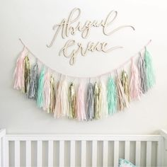 Custom hand lettered nursery sign for a little princess named Abigail Grace!  #happilyeveretched (: @everthineweddings)
