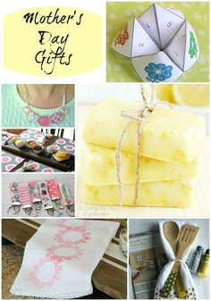 Great ideas for handmade Mother's Day gifts. #handmadegifts #mothersday