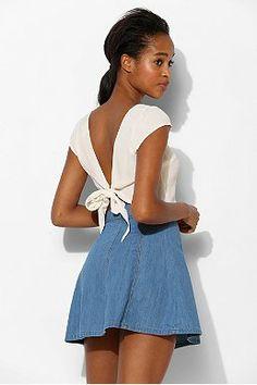 BDG High-Rise Chevron Circle Skirt