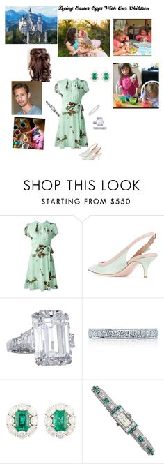 """""""Dying Easter Eggs With Our Children"""" by hshprincessgebevieve ❤ liked on Polyvore featuring RED Valentino, Tacori and Jewels by Viggi"""