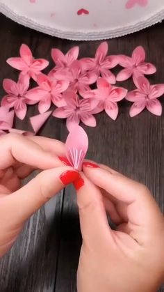 paper cherry blossom branch - paper cherry blossom branch You are in the right place about simple crafts Here we offer you the mo - Paper Flowers Craft, Paper Crafts Origami, Flower Crafts, Diy Flowers, Paper Flower Garlands, Origami Flowers, Diy Crafts Hacks, Diy Crafts For Gifts, Diy Arts And Crafts
