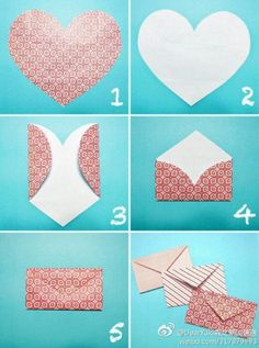 """How to make envelopes --- 6 inch square paper makes a tiny 3"""" by 1 1/2"""" envelope."""