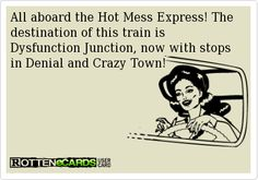 All aboard the Hot Mess Express!