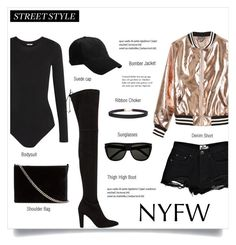"""""""Pack for NYFW"""" by brccz ❤ liked on Polyvore featuring Humble Chic, Wolford, Stuart Weitzman, Sans Souci, Boohoo, Witchery, rag & bone and Yves Saint Laurent"""
