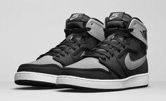 on sale 7b91d 409a2 Air Jordan 1 Retro KO High Shadow Color Black Shadow Grey-White Style