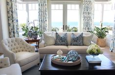 Coastal inspired living room. Products from Designed by: Ohara Davies-Gaetano  Photo by: Faith Elder