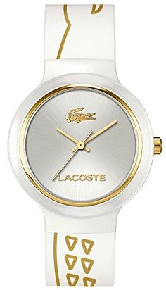 6bb482a1f54 Lacoste Unisex Goa White Silicone Strap Watch 2020085   Want to know more