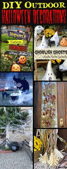 30  Astounding But Easy DIY Outdoor Halloween Decoration Ideas