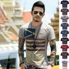 Free Shipping 2016 Fashion Man Tops Tees Short Sleeve t shirt Men's T-shirt brand new round neck shirts men TX82-An