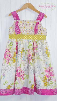 knot dress | girls handmade boutique knot dress