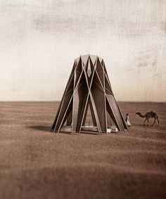 the nomad pavilion: a self-sustaining, modernized bedouin tent in the jordan desert