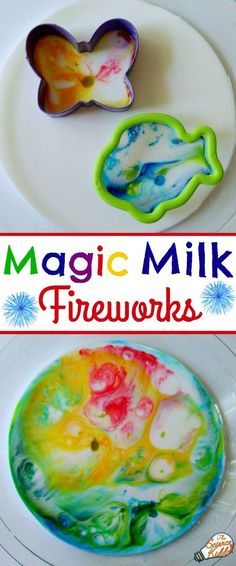 Create the most beautiful process art using milk, food coloring, cookie cutters, and liquid dish soap! Who knew?! Magic milk is a quick and easy science activity for kids that engages their minds and their creativity. This is a learning activity that kids ages 2-102 will love!