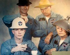 Dick Gordon, Pete Conrad Dave Scott and Neil Armstrong