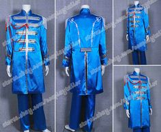The Beatles Sgt Pepper Cosplay John Winston Lennon Costume Blue Uniform Hot Sale #Uniform