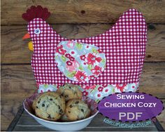 Chicken Sewing Pattern | Chicken Tea Cozy PDF Sewing PATTERN - muffin cozy, cookie cozy, egg ...