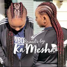 "Ka'Mesha Cathcart on Instagram: ""Stitched feed in braids 😍 #dallasbraider #feedinbraids #tribalbraids #dallashairstylist #stitchbraids #chicagobraids #protectivestyles…"" Braided Cornrow Hairstyles, African Braids Hairstyles, Feed In Braid, Feed Braids, Baddie Hairstyles, Kid Hairstyles, Curly Hair Styles, Natural Hair Styles, Girls Natural Hairstyles"