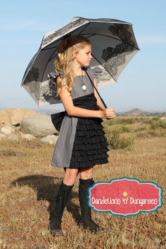 Tween's Ruffled Whimsy Dress and Tunic   Dandelions n' Dungarees
