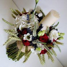 yau flori+yau evenimente_lumanare de botez cu grau lavanda si flori de vara