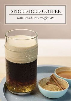 Give your iced coffee an extra kick with this unique drink recipe. In this Spiced Iced Coffee, you'll feel the warmth of cinnamon and ginger enjoyably contrast the cool refreshment of this summer staple, combined with the luxurious sweetness of honey. It's so satisfying!