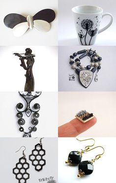 White-black July by Millie Ol on Etsy--Pinned with TreasuryPin.com