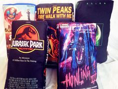 Usher in the second coming of the VHS era by cuddling up with one of these nostalgic VHS cassette tape pillows. Each pillow is skillfully handmade and can be decorated with the VHS movie cover of your choosing, so your favorite flicks are always with you. Movie Theater Rooms, Cute Furniture, Furniture Ideas, Vhs Cassette, Horror Decor, Vhs Movie, Movie Covers, Dream Decor, Box Art