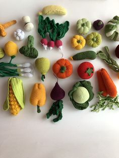 Crochet Patterns - Easy to use Amigurumi Patterns by MaryBrowncraft Crochet Fruit, Crochet Pumpkin, Crochet Food, Crochet Kitchen, Love Crochet, Beautiful Crochet, Crochet Flowers, Knit Crochet, Crochet Snowflake Pattern