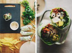 lemongrass and coconut summer rolls.