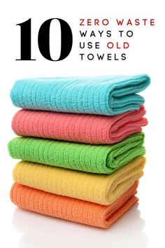 We all have old towels lying around. Don't throw them away! Here are 10 AMAZING zero waste ways to use old towels! Turn them into something new, reduce waste and save money at the same time! #zerowaste #zerowastehome #zerowastelife #upcycle #upcycleideas #frugal #frugalideas #frugalliving #thrifty #thriftyliving Reduce Waste, Zero Waste, Reduce Reuse, Reuse Recycle, Old Towels, Saving Money, Money Savers, Cost Saving, Saving Tips