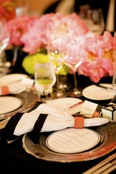 Black, White and Coral Wedding » Ooh LaLa La Fete