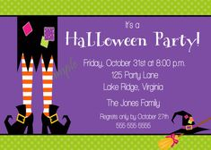 Printable Witch Halloween Party Invitation