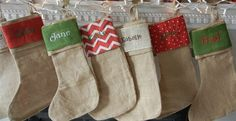 Personalized Burlap Christmas Stockings, Only $14.95! -HotCouponWorld.com