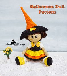 Handmade Dolls Patterns, Diy Crochet Patterns, Crochet Doll Pattern, Amigurumi Patterns, Amigurumi Doll, Doll Patterns, Crochet Dolls, Crochet Ideas, Halloween Crochet