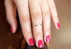 This black-diamond beauty bucks tradition in the best way. #etsyjewelry