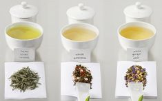 White teas are made from buds and young leaves, which are steamed or fired to inactivate polyphenol oxidase, and then dried. Thus, white tea retains the high concentrations of catechins present in fresh tea leaves.  When brewed, white teas give hardly any color and infuse a very delicate flavor into the water. A few types of white tea: Ceylon, Darjeeling White Tip, Silver Needle, Sowmee, White Needle.