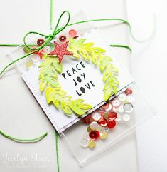Peace, Love, and Joy Tag by @redballoon. #EssentialsbyEllen #ellenhutsonllc