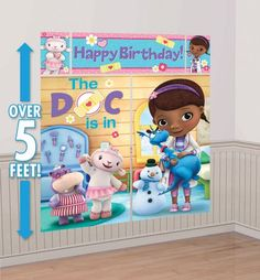 Doc McStuffins Scene Setter 5pc - Party City