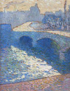 Sekwana w Rouen o zmierzchu | Robert Antoine Pinchon [1905]