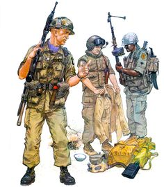 • Staff Sergeant, US 101st Airborne Div., 1965  • Tank crewman, US 11th Armd. Cav. Regt., 1968  • SP4 grenadier, US 1st Inf. Div., 1968