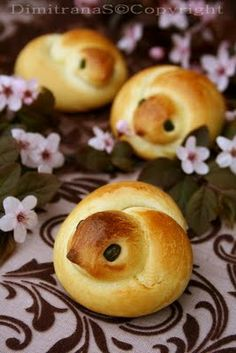 Bread chicks- Recipe appears to be in Austrian but there is also a short video showing how to do this!