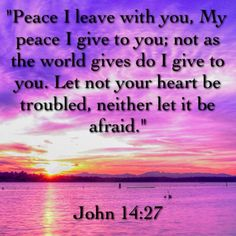 Peace | MY peace I leave with you MY peace I give to you not as the world gives do I give to you Let not your hearts be troubled neither let it be afraid | John 14:27 | Bible | Bible Verse | Scripture | Scripture Verse | Verse about Peace | Quotes | encouraging | inspiring | Jesus is awesome! | God is awesome! | you are loved