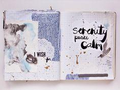 @paperhelen   Instagram   Get Messy Craft Swap   Season of Serenity   Get Messy Art Journal