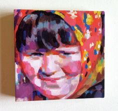 Spring Fragrances / Tiny canvas print -blue red yellow green pink orange Colors  -shawl-smile by tushtush on Etsy https://www.etsy.com/listing/102379664/spring-fragrances-tiny-canvas-print-blue